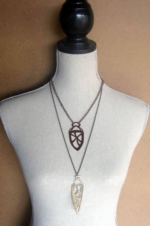 Dagger- Brass Pendant- aged metalwork