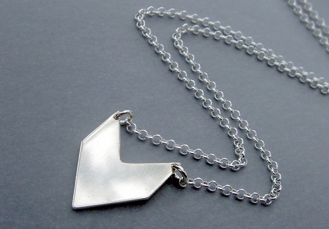 Direction Necklace -Small Arrow- Sterling silver