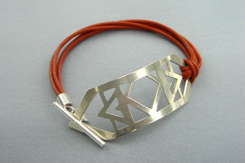 Daring Cuff Bracelet- tribal - sterling silver