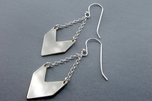 Direction Earrings -Small Arrow- Sterling silver