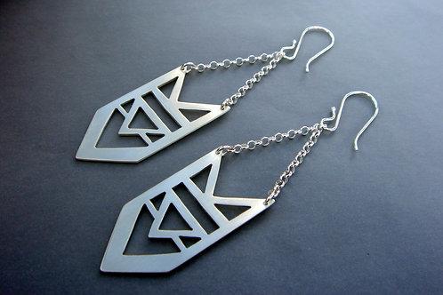 Arrow Dangle earrings - sterling silver