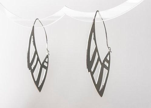 Rise- Hoop style wing earrings