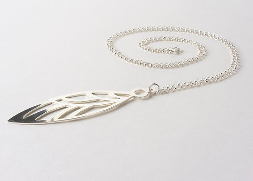 Ascend -Large Sterling silver wing pendant