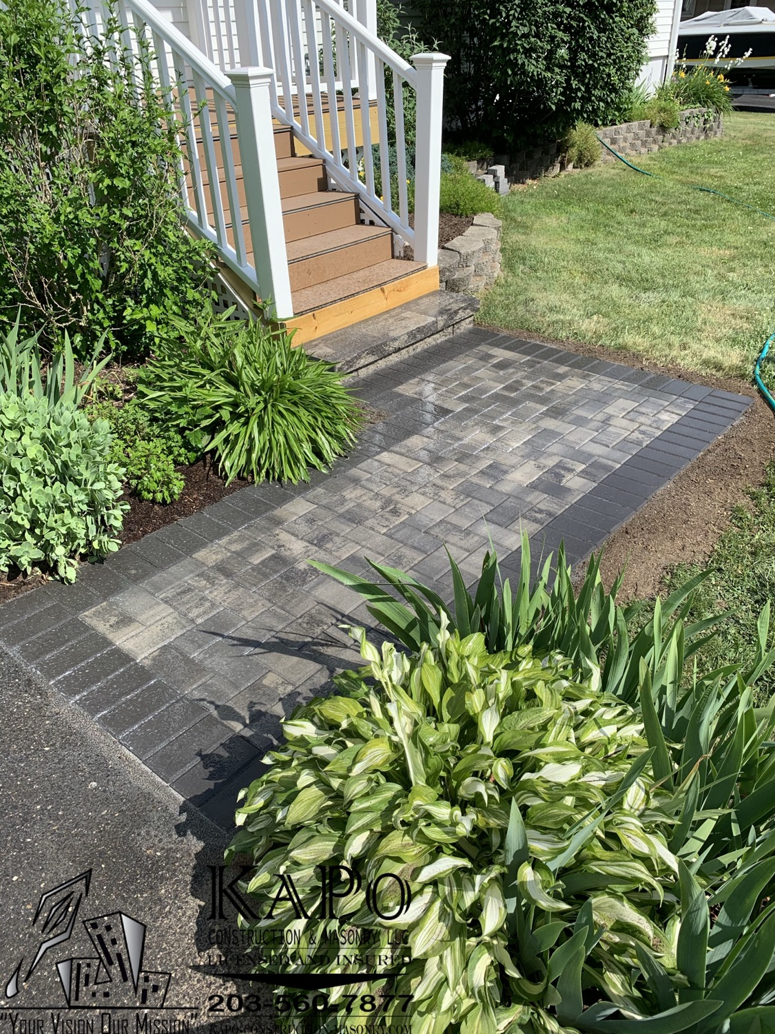 Paver Walkway and Step