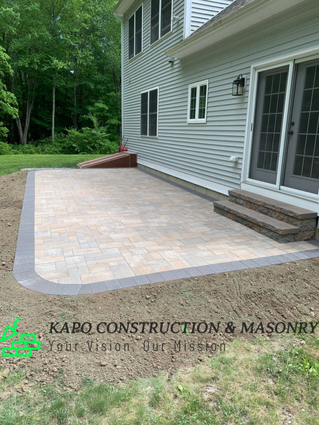 Paver patio & steps