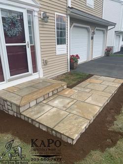 Granite Steps and Granite Walkway