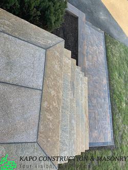 Steps Walkway Retaining Wall in Wolcott