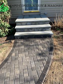 Bluestone Steps Paver Walkway Wolcott