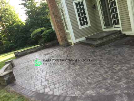 Paver Patio & bluestone steps