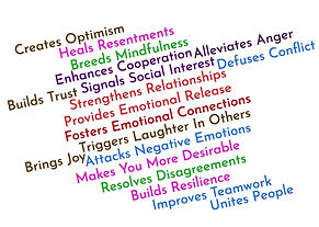 Social and Emotional Benefits of Laughter Wordcloud