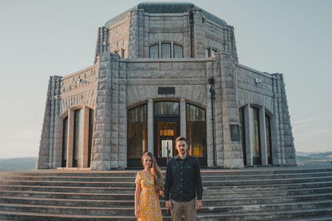 Portland, Engagement, Dancing, Sunset, Vista House, Boyfriend, Girlfriend, Photographer, PNW