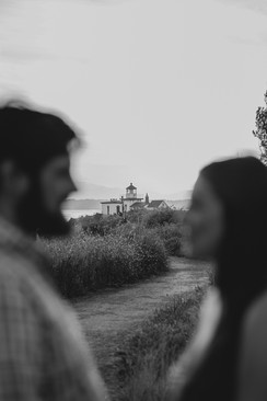 Seattle, Discovery Park, Engagement, Lighthouse, Boyfriend, Girlfriend, Smile, Photographer, PNW