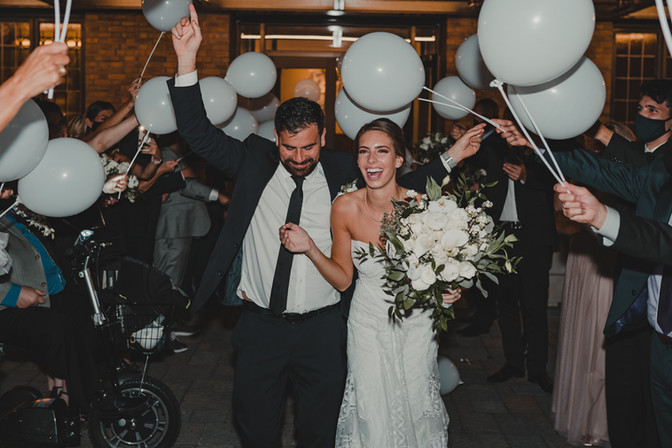 Seattle, Wedding, Bride, Groom, Dress, Bouquet, Sendoff, Balloons, Dancing, Venue, PNW, Photographer