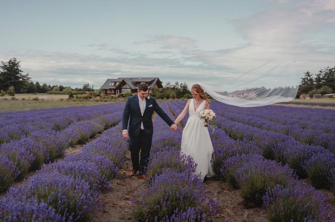 Seattle, Wedding, Elopement, Bride, Groom, Dress, Veil, Wind, Outdoors, Venue, Bouquet, Lavender, PNW, Photographer