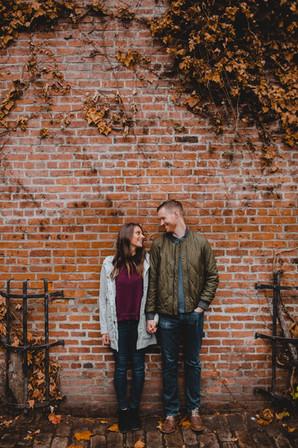 Seattle, Pioneer Square, Engagement, Brick, Boyfriend, Girlfriend, Smile, Photographer, PNW