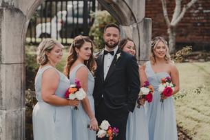 Seattle, Wedding, Groom, Bridesmaids, Bouquet, Outdoors, Venue, Tuxedo, PNW, Photographer