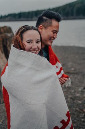 Seattle, Engagement, Rattlesnake, Lake, Blanket, Boyfriend, Girlfriend, Smile, PNW
