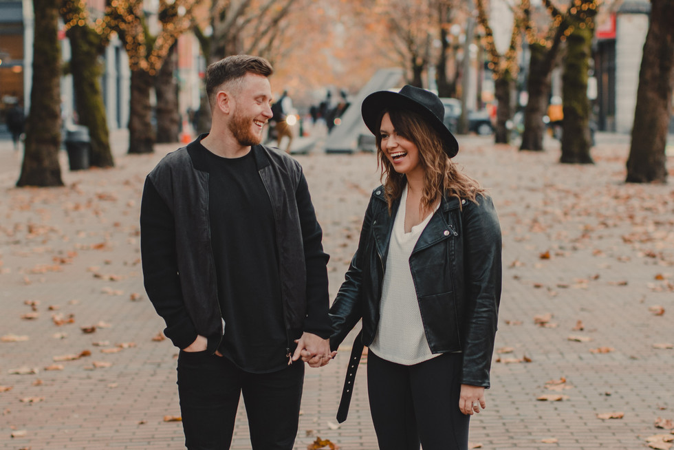 Seattle, Pioneer Square, Anniversary, Husband, Wife, Fall, Smile, Photographer, PNW