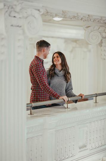 Seattle, King Station, Engagement, Boyfriend, Girlfriend, Smile, Photographer, PNW