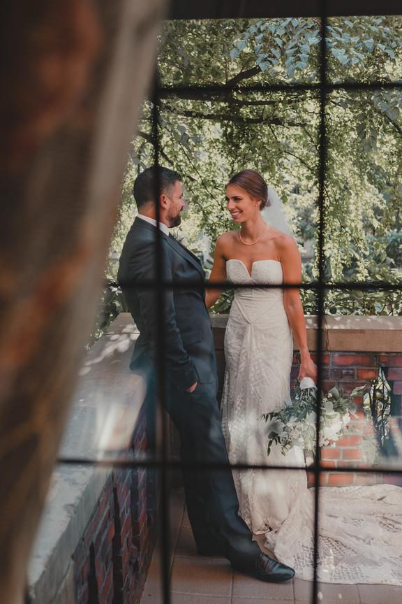 Seattle, Wedding, Bride, Groom, Window, Dress, Bouquet, PNW, Photographer