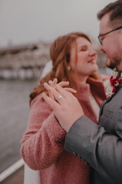 Seattle, Wedding, Elopement, Bride, Groom, Ring, Dress, Veil, Water, PNW, Photographer
