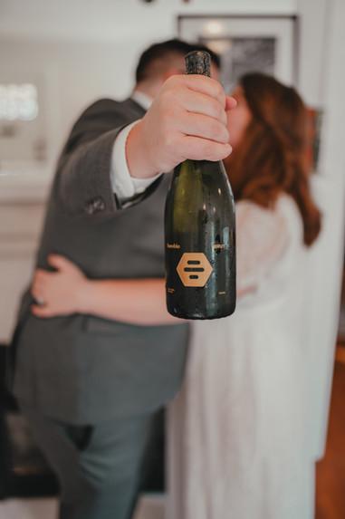 Seattle, Wedding, Elopement, Bride, Groom, Dress, Wine, Chardonnay, Bumble, PNW, Photographer