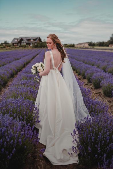 Seattle, Wedding, Elopement, Bride, Dress, Veil, Lavender, Farm, Venue, Outdoors, PNW, Photographer