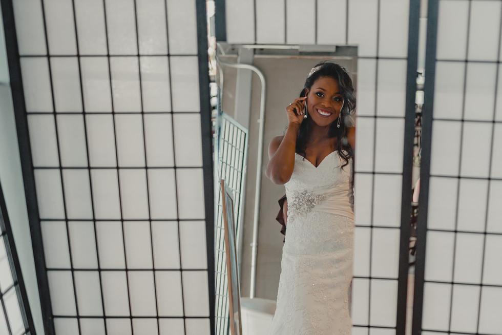 Portland, Wedding, Bride, Dress, Mirror, Getting Ready, Earring, PNW, Photographer