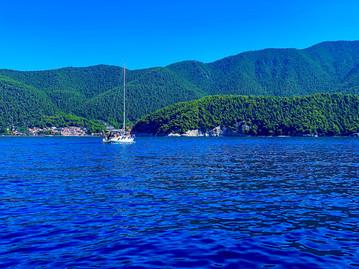Green and blue isle