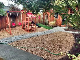 Playground chip mulch around swingset.jpg