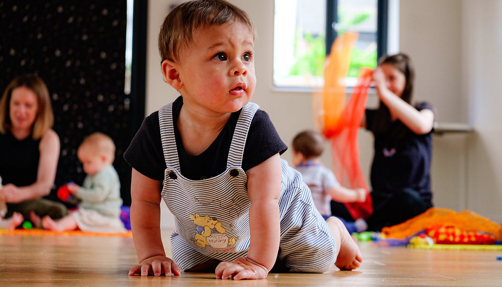Baby at Baby Sparks Little Shakers Sensory Class in Nottingham.JPEG