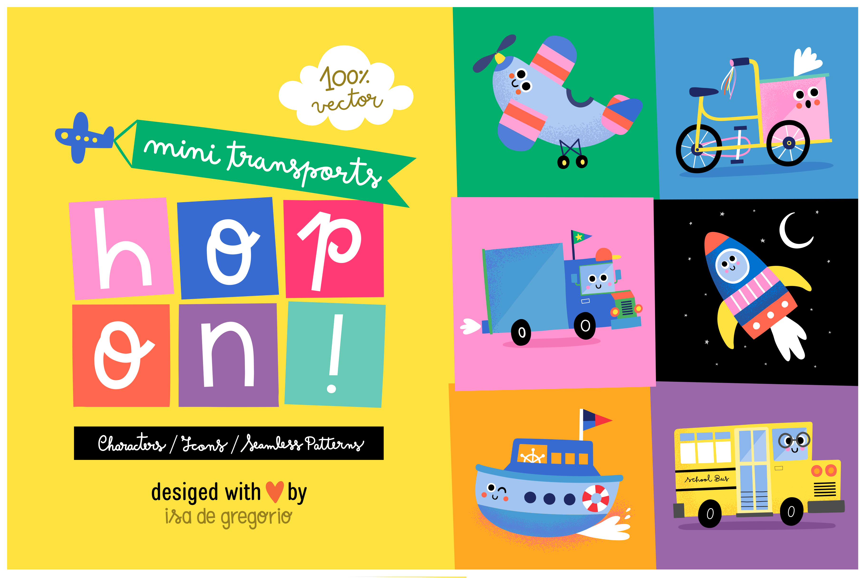 Hop On. Cute Mini Transports