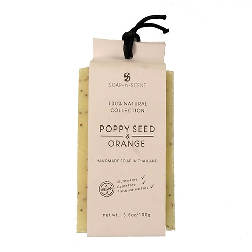 Soap-n-Scent Grain Collection Poppy Seed & Orange Soap