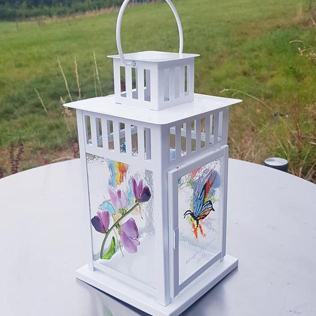 Flower and rainbow lantern