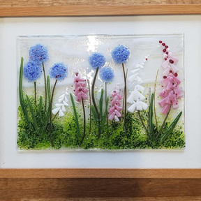Foxgloves and aliums
