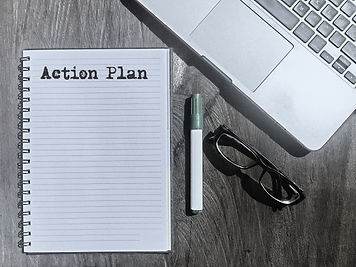 Action Plan, Typed Words On a handbook w