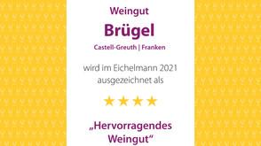 Erstmals 4 Sterne im Eichelmann Weinführer 2021