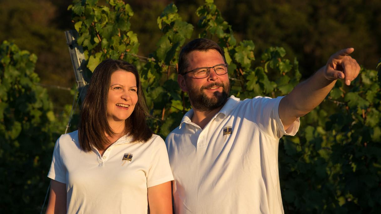 Elke und Harald Brügel am Greuther Bastel