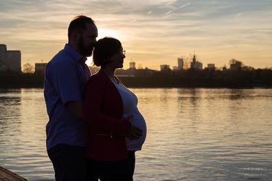 Sesja ciążowa w plenerze Warszawa 2