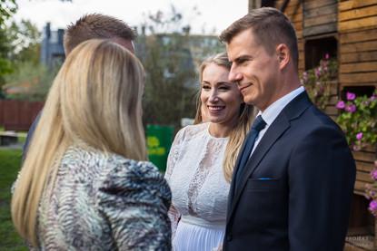 Ania i Konrad - przyjęcie ślubne w Łomiankach 1