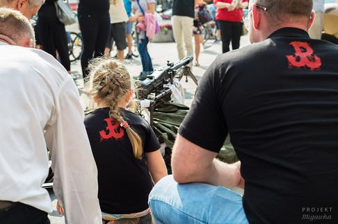 Diorama powstańcza na Placu Wileńskim