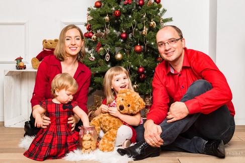 Rodzinna sesja świąteczna Warszawa