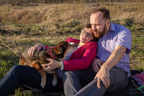Dorota i Tomek - sesja brzuszkowa lifestyle