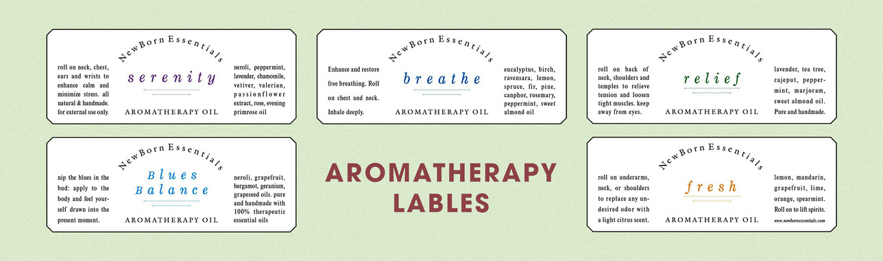 aromatherapy labels