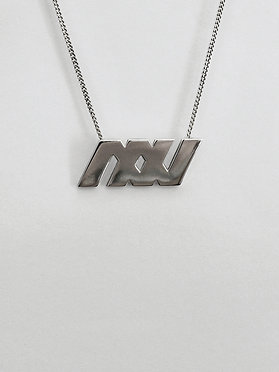 logo necklace with chain