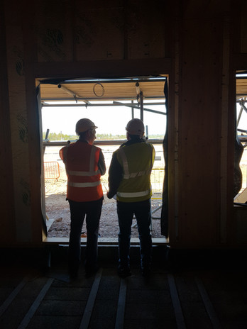 Looking out at the build!