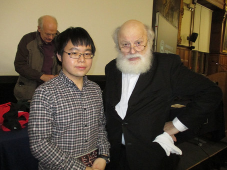 With Professor Sir Geoffrey Hill