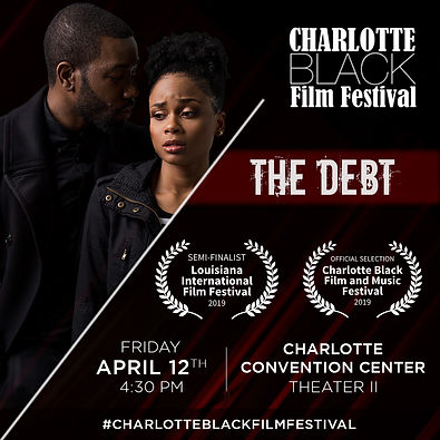 The Debt Charlotte Black Film Festival Flyer