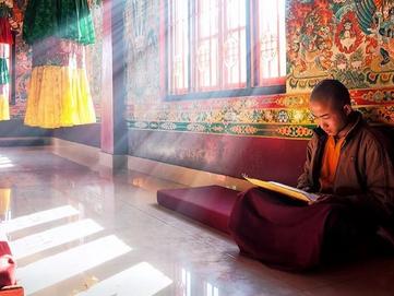 Inside a Tibetan Buddhist Temple