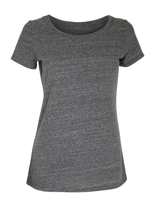 Lookoutgear Women's Casual Scoop Neck Top - Grey